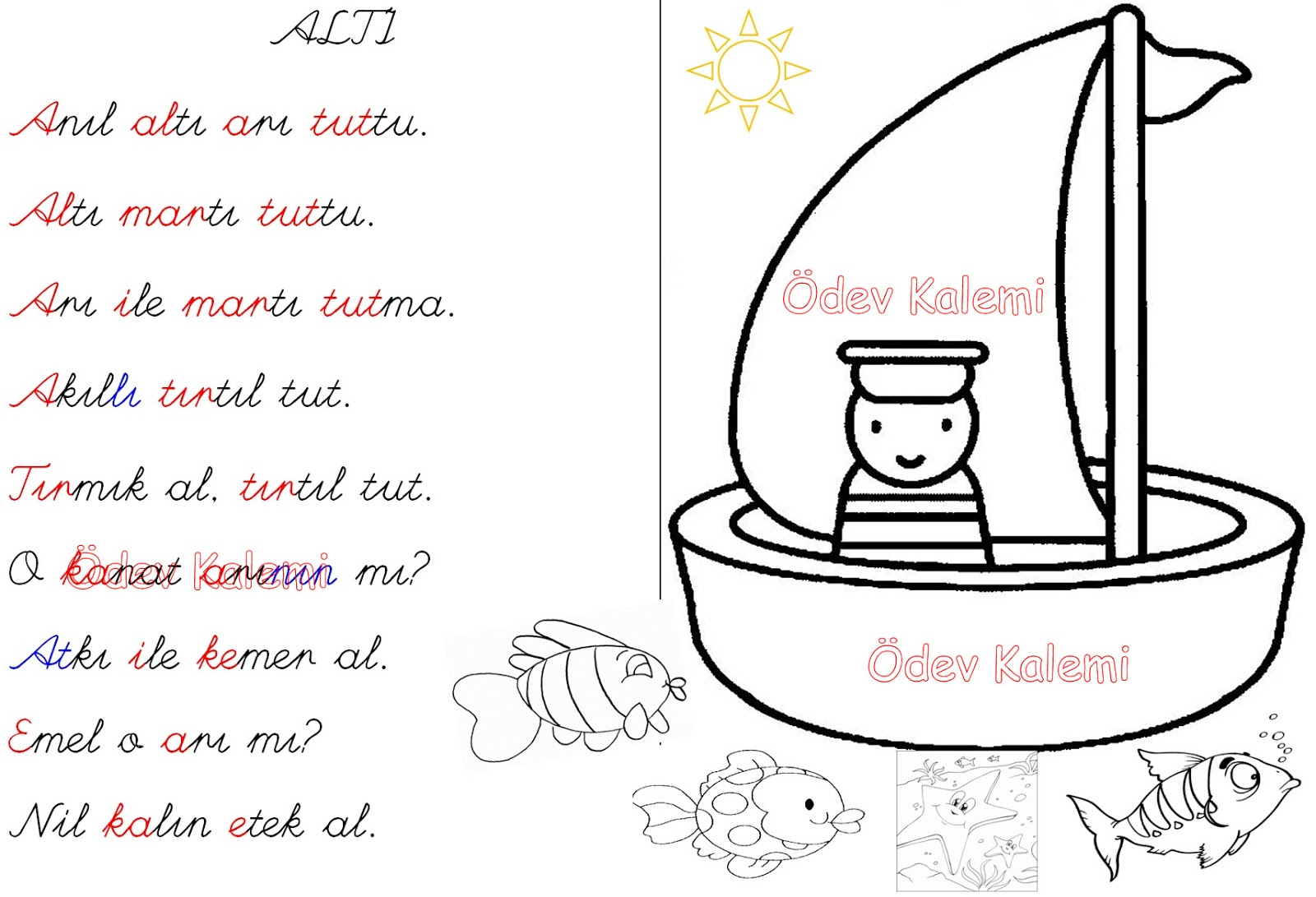 A Sesi Boyama Etkinlikleri Free Coloring Pages Globalchin Coloring