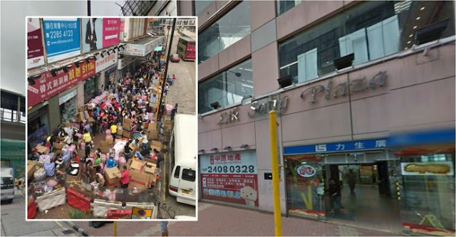 TKW Penuhi dan Sesaki Jalan Trotoar Dengan Kardus Paketan, Warga Hong Kong Marah dan Komplain ke Pemerintah