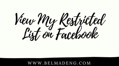 View My Restricted List on Facebook