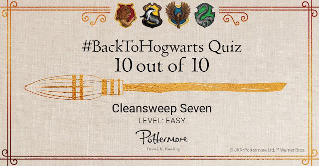 """Attestato del quiz """"Ritorno a Hogwarts - Scopalinda Sette, livello facile"""""""