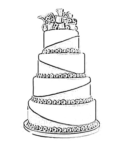 how to draw a wedding cake step by step pin wedding cake pattern a 1 step by drawing lessons to 15721