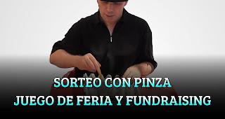 SORTEO CON LA PINZA JUEGO DE FERIA Y FUNDRAISING