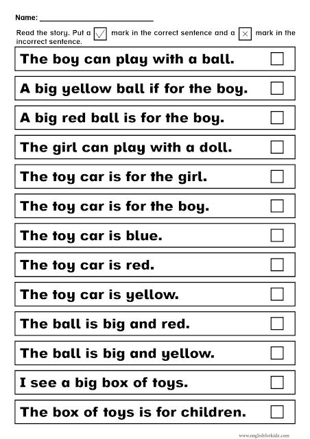 Dolch sight words worksheet pre-primer level - printable ESL resources