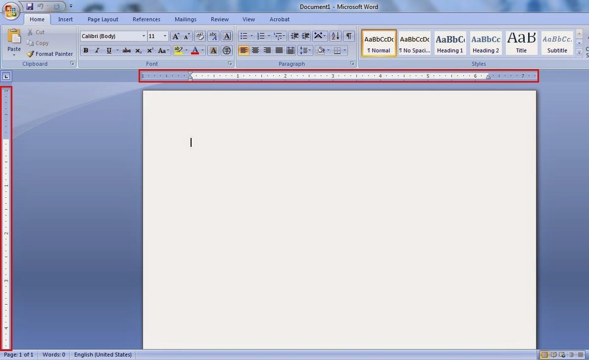 cara merubah ukuran inci menjadi cm pada microsoft word 2007 tampilan inci