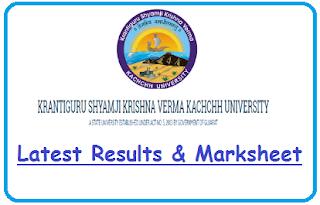 Kachchh University Result May June 2020
