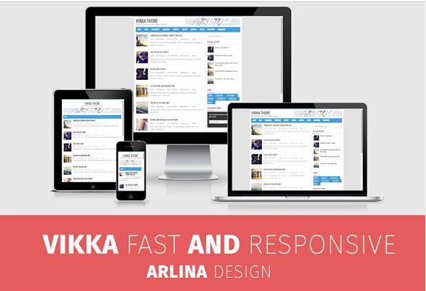 Vikka Fast and Responsif Premium Template GRATIS