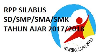 RPP Silabus SD/SMP/SMA/SMK Kurikulum 2013 Terbaru Tahun 2017