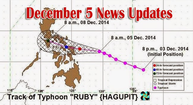 Super Typhoon Ruby December 5 News Updates
