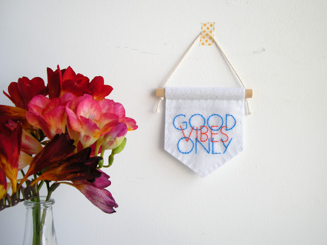 embroidered wall banner