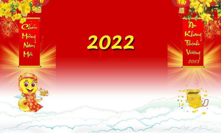 Hình nền mừng xuân Nhâm Dần 2022