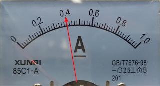 Pergerakan Arus pada short >400mA