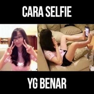 Gambar dp bbm foto selfie cara selfie yang benar