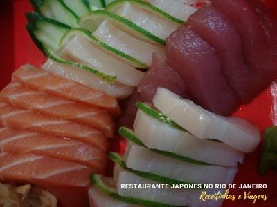 Restaurante japonês Rio de Janeiro - sashimis bem cortados