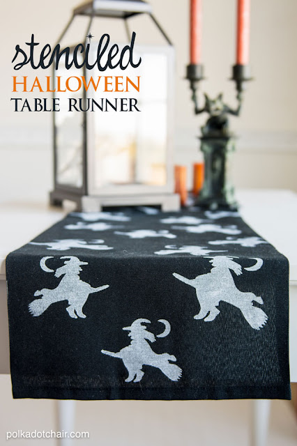 Easy DIY Halloween Witch Table Runner Tutorial!