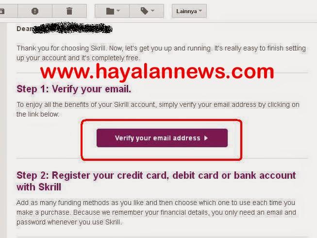Cara buat akun skrill rekening pembayaran dalam sekejap