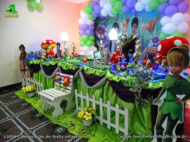Ornamentação para festa temática Tinker Bell