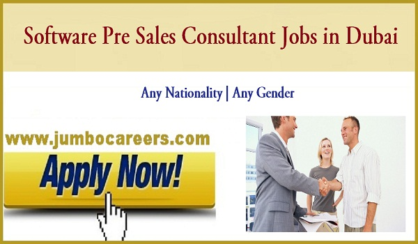 Software Pre Sales Consultant Jobs In Dubai
