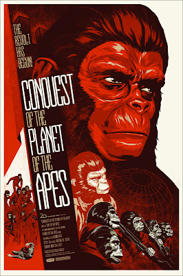 Mondo x Sideshow Collectible Planet of the Apes Screen Print Series - Conquest of the Planet of the Apes by Phantom City Creative