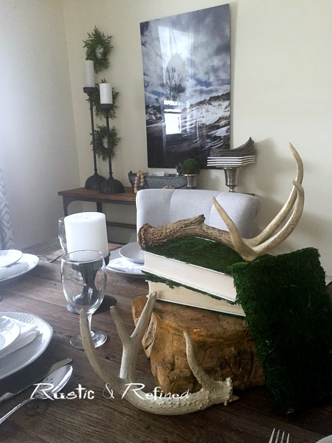 Woodland and Rustic Table Setting