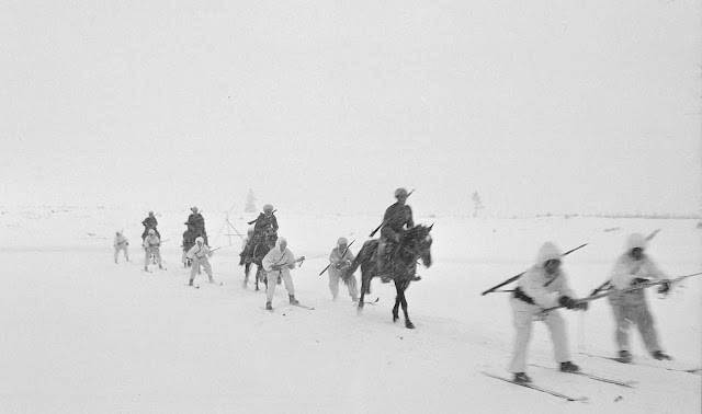 An experiment in troop transportation in cold weather.