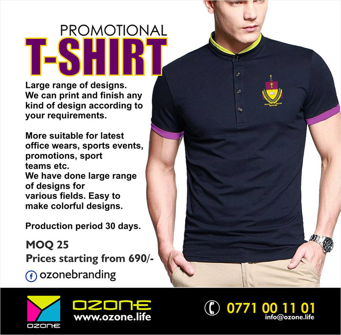 High quality printed Wet-Look t-shirts.  Large range of designs. We can print and finish any kind design according to your requirements. More suitable for latest office wears, sports events, promotions, sport teams etc. We have done large range of designs for various fields. More conformable fabric used. Easy to make colorful designs.  Production period 30 days.