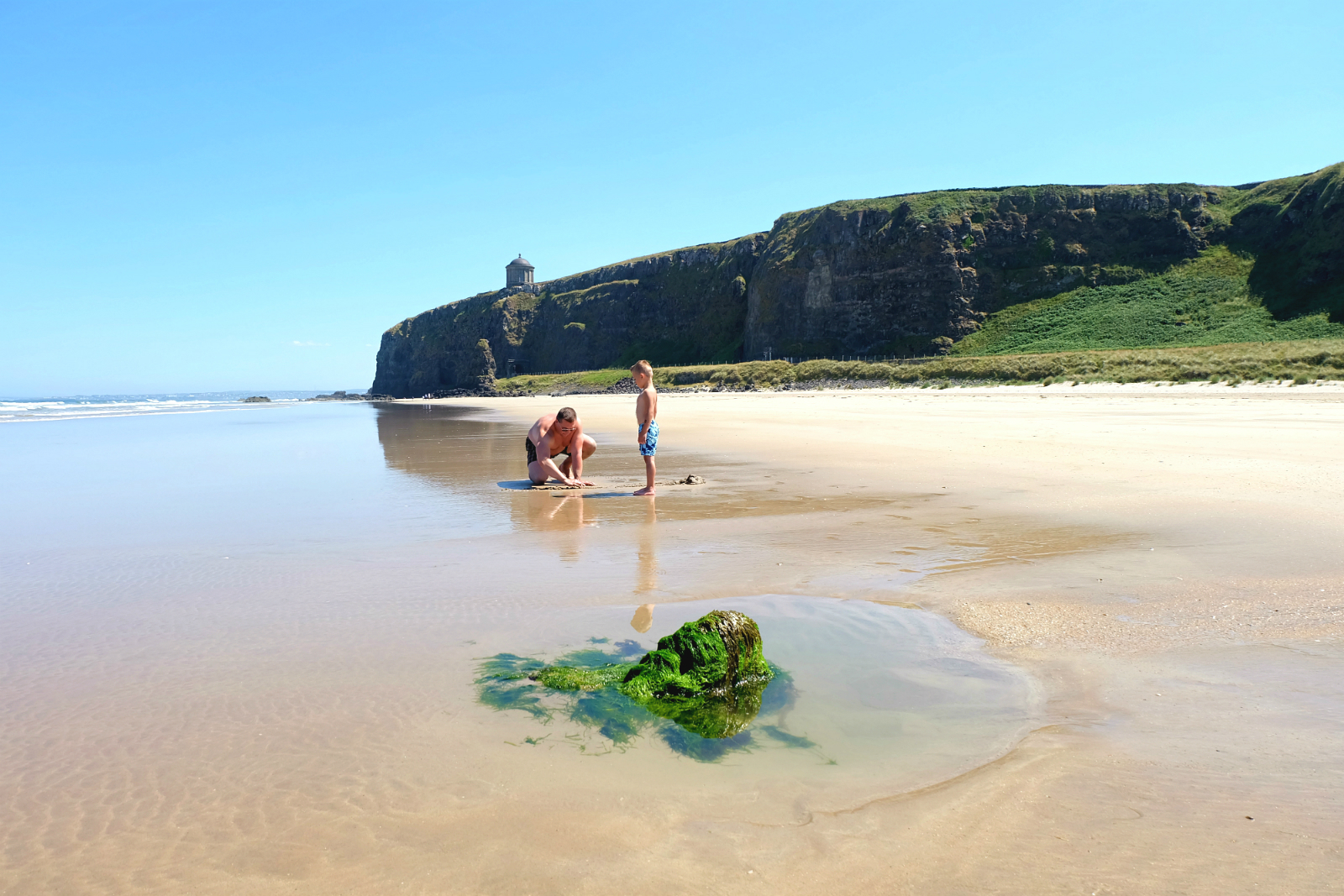 Downhill Beach najpiękniejsza plaża Irlandii Północnej