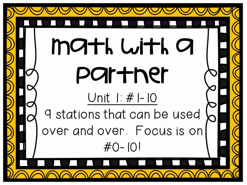 Kindergarten is Grrreat! Daily 3 Math - Math with a Partner - printable math awards