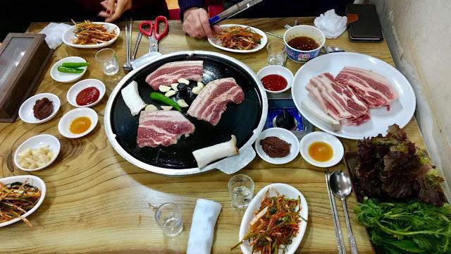 samgyeopsal south korea bbq barbecue