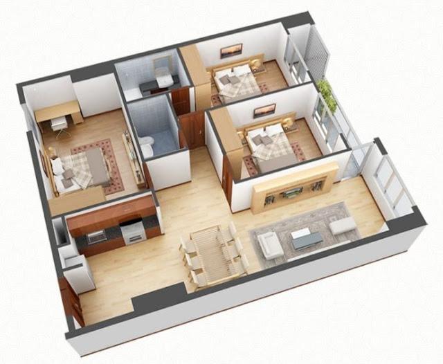 Chi tiết thiết kế căn hộ 3 phòng ngủ Vincity Gia Lâm