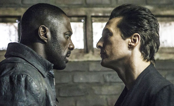 Roland (Idris Elba) and The Man in Black (Matthew McConaughey) come face to face in THE DARK TOWER (2017)