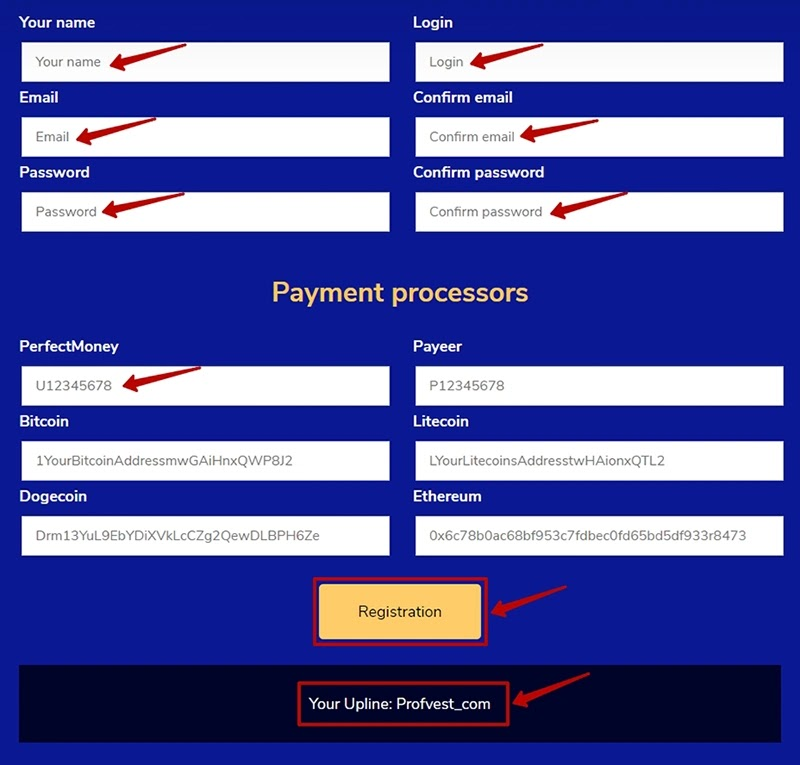 Регистрация в CryptoNode 2