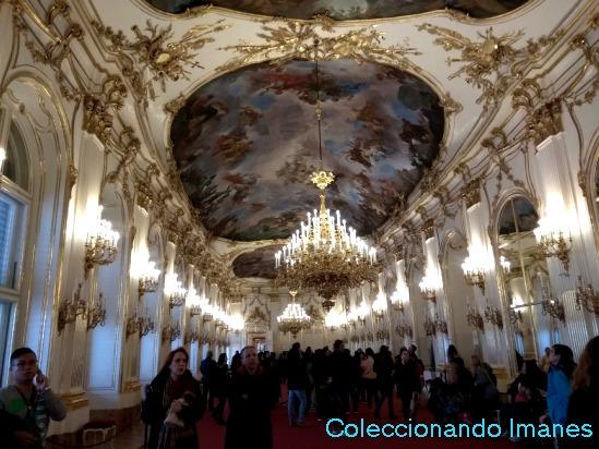 Sala del Palacio de Schonbrunn - visitar Viena en 3 días