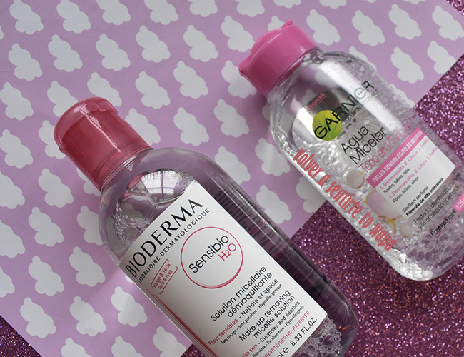 Agua Micelar de Bioderma y de Garnier