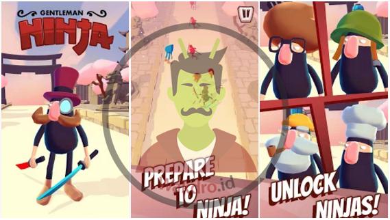 Gantlemen Ninja merupakan salah satu game offline android terbaik pada 2017