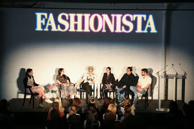 "Editors on stage at Fashionista's 2015 ""How to Make It in Fashion"" conference in New York City. Photo: Fashionista"