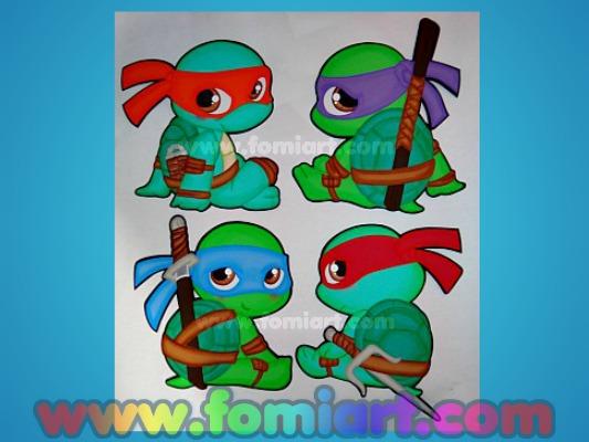 Moldes Gratis Tortugas Ninja