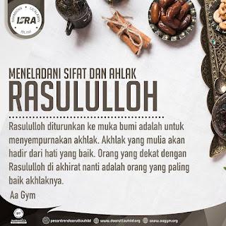 Meneladani Sifat dan Ahlak Rasululloh - Qoutes - Kajian Islam Tarakan