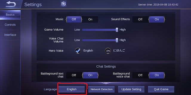 How to change ML Hero's voice to Japanese