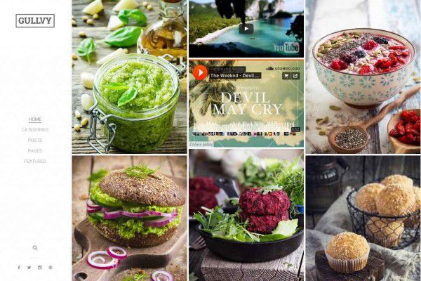 Gullvy wordpress theme for food blog