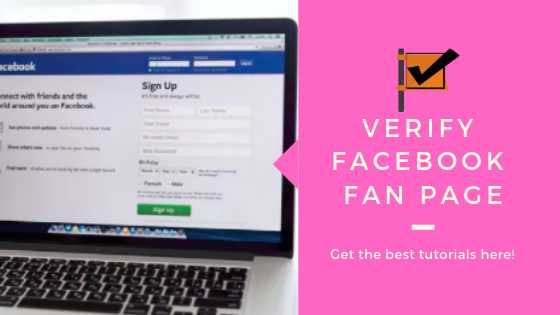 Verify Facebook Page<br/>
