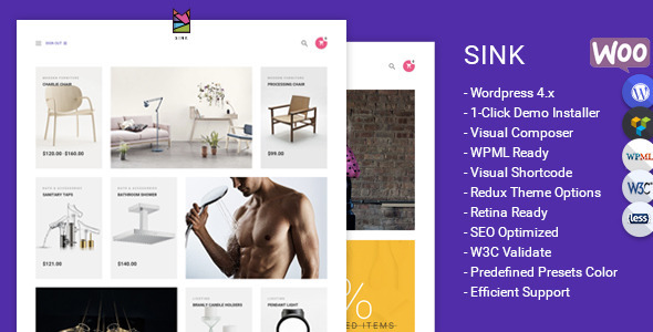Sink Minimal WooCommerce WordPress Theme