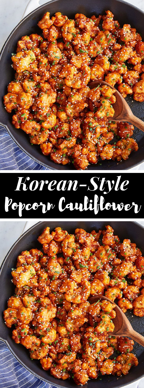 Korean-Style Popcorn Cauliflower #koreanrecipe #vegetarian