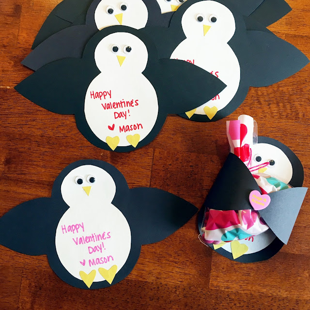 Chasin' Mason : Penguin Valentine's with M&M candies
