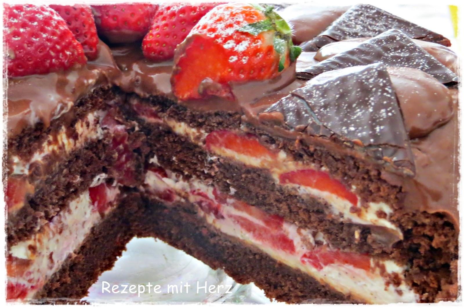After Eight Torte mit ErdbeerJoghurtCreme