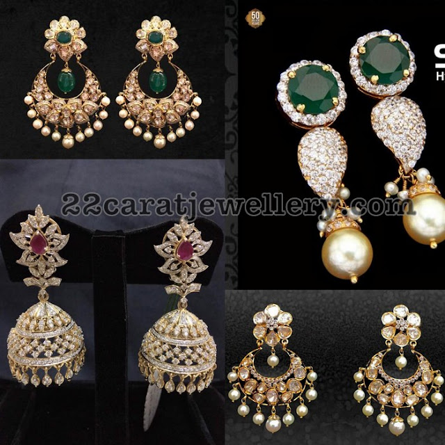 Trendy Earrings from Musaddilal Jewellers