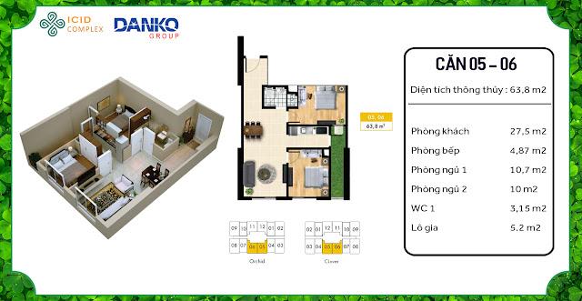 Căn 05 - 06 chung cư ICID Complex