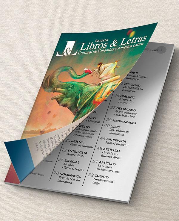 Diseño y diagramación de revista, para Libros y Letras