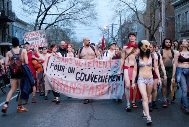 """Manifestation """"toute nue"""" (ou presque). 3 mai 2012, Montréal [photos David Champagne]"""