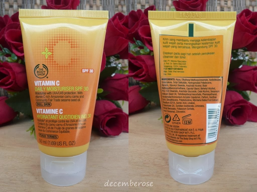 Decemberose  The Body Shop Vitamin C Daily Moisturizer SPF 30 12f2a58a99