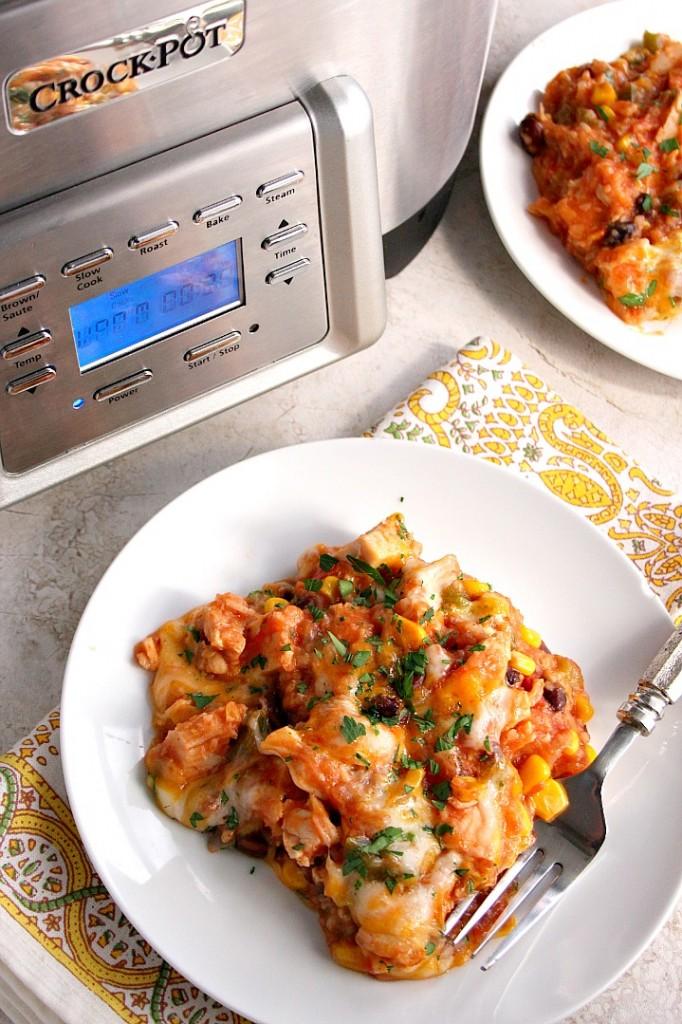 Southwestern Crock-Pot Chicken and Rice Recipe